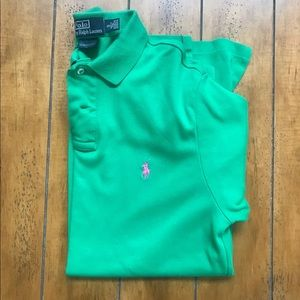 Green Polo Custom Muscular Fit